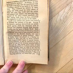 Vintage Accents - C. 1800s Vintage Green Embossed Book on Edinburgh